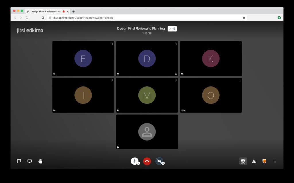 Jitsi-Edkimo Open-Source-Videokonferenz, datensparsam, kostenlos